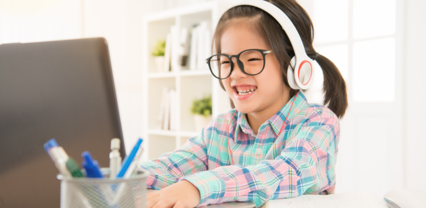 child-girl-daughter-happy-smile-learn-education-online-remote-canva photo-can reuse