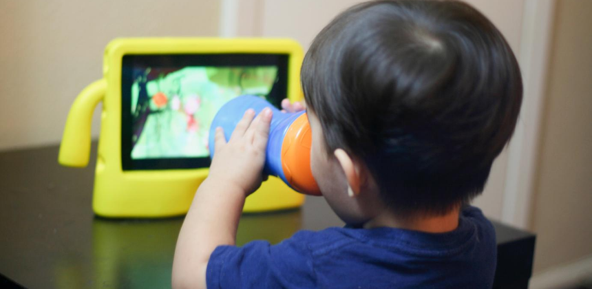 screen time-kids-tv-electronics-screens-boy-son-toddler-child-computer-canva photo-can reuse