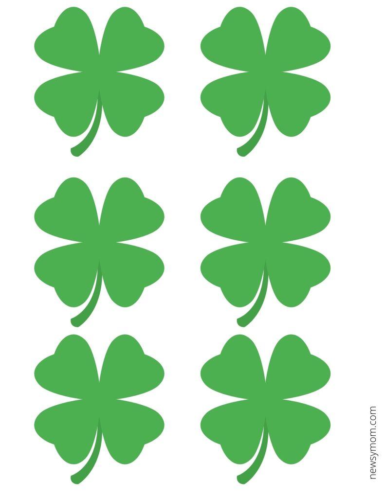 St Patrick's Day Clover Printable