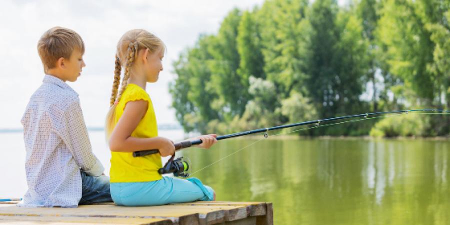 Children fishing - fishing derby - canton -ohio